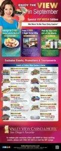 Valley View Casino September VIP Media Offers