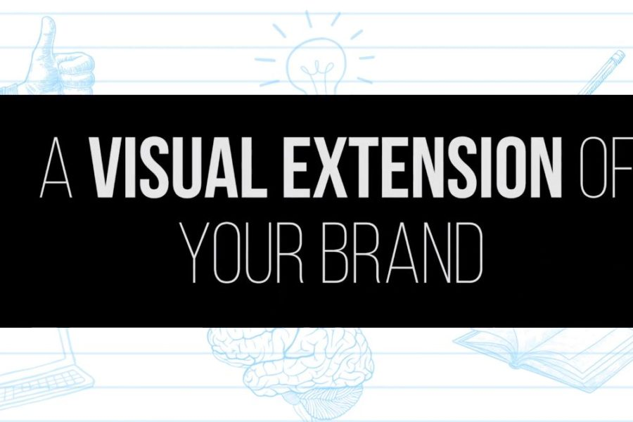Your brand words Visually Extend you