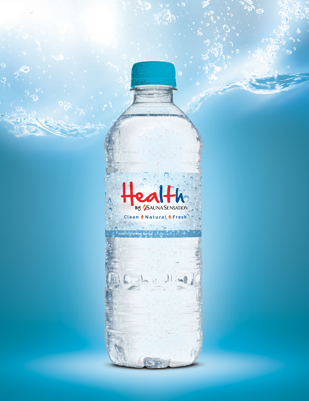 Health By Sauna Sensation Water Bottle Artwork