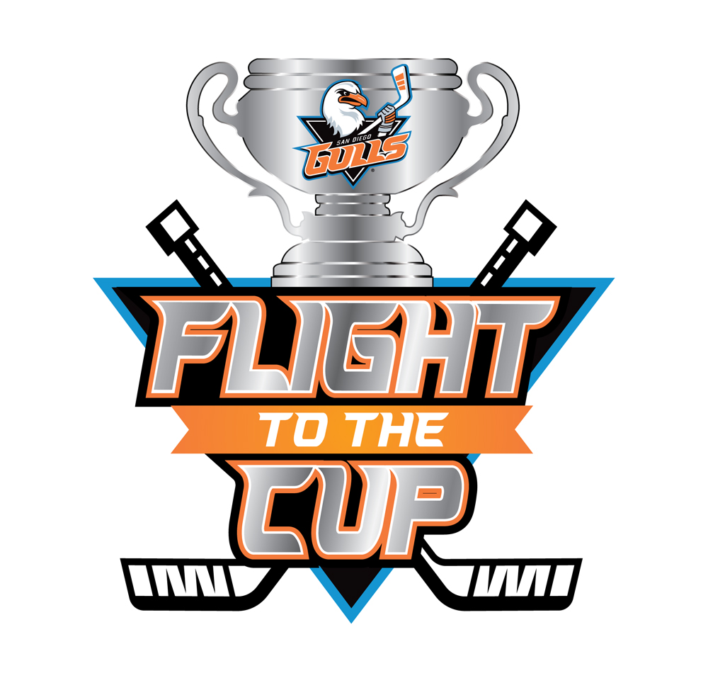 San Diego Gulls Flight to the Cup Playoffs Logo