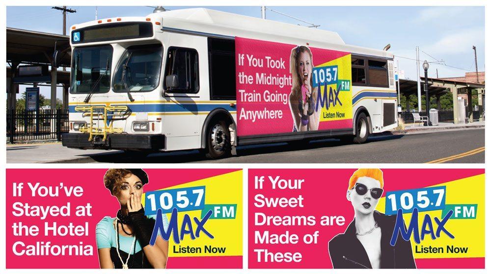 MAX FM Bus Wraps