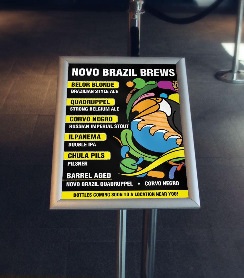 Novo Brazil Brewery Menu