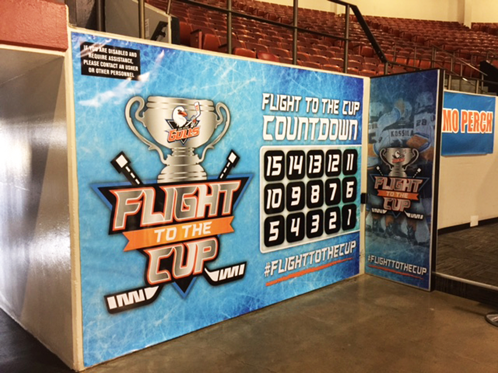San Diego Gulls Promo Perch Wall