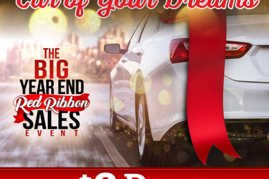 The Big Year End Red Ribbon Sales Event Web Banner