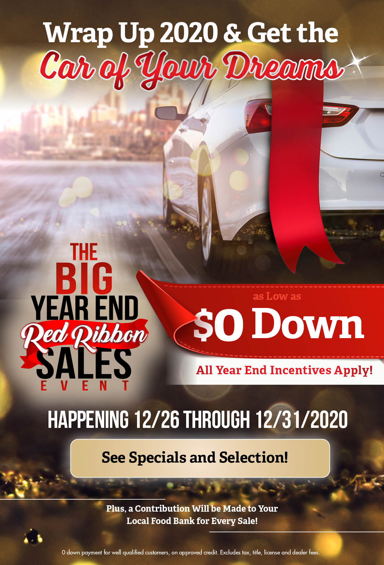 The Big Year End Red Ribbon Sales Event Eblast