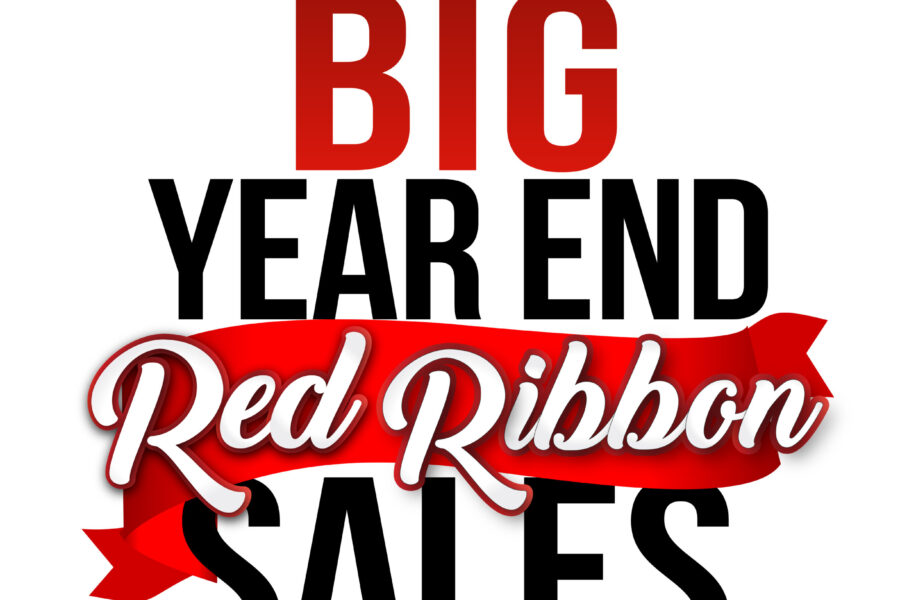 The Big Year End Red Ribbon Sales Events Logo