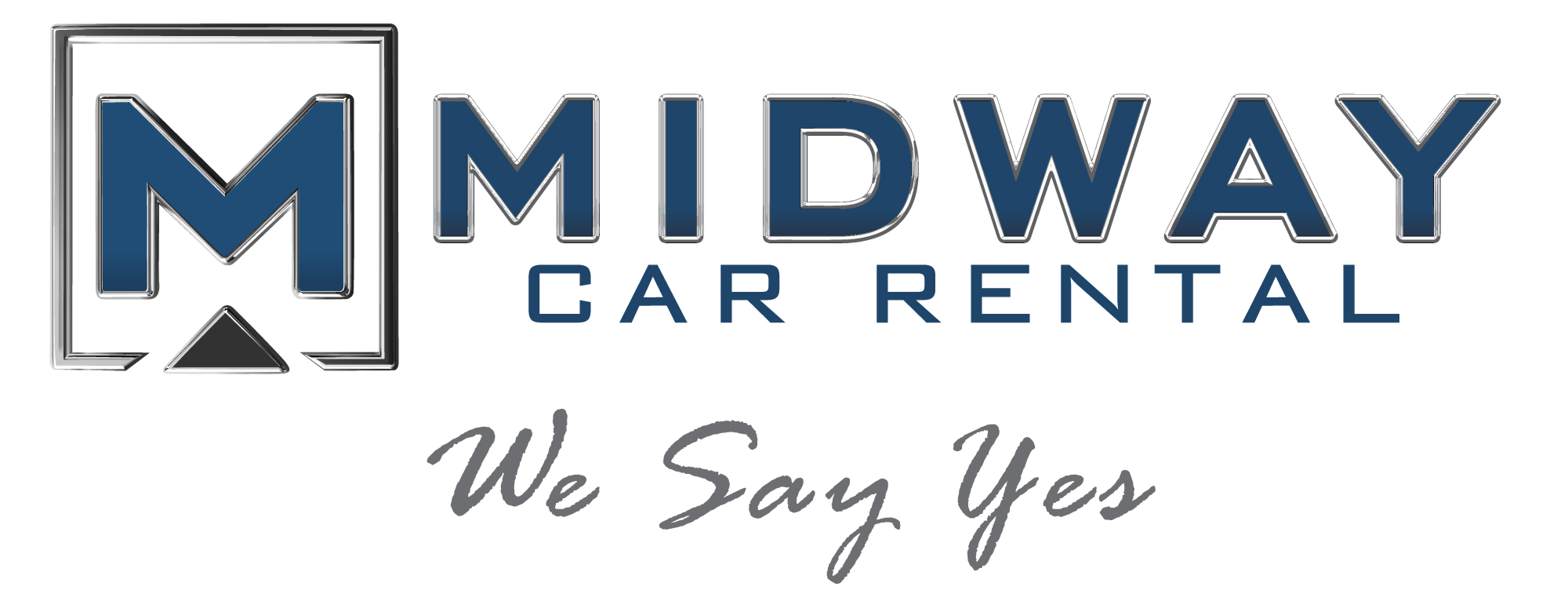 Midway Car Rental We Say Yes Logo